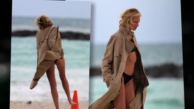 News video: Candice Swanepoel Makes Cold Beach Hot Again in Bikini